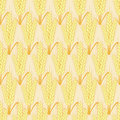 Vector modern wheat seamless background Royalty Free Stock Photo