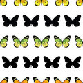 Vector Monarch Butterfly Stripes Seamless Pattern Royalty Free Stock Photo