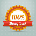 Vector money back label illustration Stock Image
