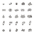 Vector Money and coin icon set on white background Royalty Free Stock Photo