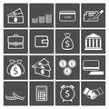Money icons set Royalty Free Stock Photo