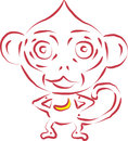 Vector monkey this is file of eps format Royalty Free Stock Photo