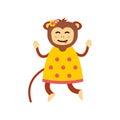 Vector monkey icon.