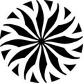 Abstract Vector Black and white Mandala ornament, circular center flower leaves, illustration