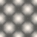 Vector monochrome halftone seamless pattern, gradually transitio