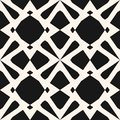 Elegant monochrome ornament with diamond shapes, flower silhouettes, grid. Abstract repeat background.