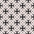 Vector monochrome minimalist seamless pattern, smooth geometric