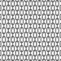 Vector monochrome pattern, abstract chain black lines on white background, subtle vertical chains. Design element for prints Royalty Free Stock Photo