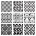 Vector monochrome patterns set Royalty Free Stock Photography