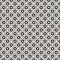 Vector geometric seamless pattern with circles, rings. Retro vintage style. Royalty Free Stock Photo