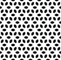 Vector monochrome seamless pattern, abstract geometric floral ornament texture Royalty Free Stock Photo