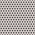 Vector monochrome seamless pattern, black hexagons