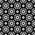 Vector monochrome seamless pattern, black