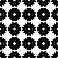 Vector monochrome seamless pattern, flat floral texture
