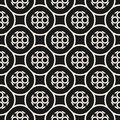 Vector monochrome seamless pattern with geometric circles