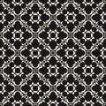 Vector monochrome seamless texture, arabic floral pattern