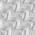 Vector Monochrome Wave Seamless Pattern