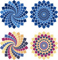 Vector mosaic flower Stock Images