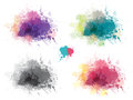 Vector multicolor backgrounds splashing blots shapes for design Royalty Free Stock Images