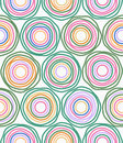 Vector multicolor circles seamless pattern Royalty Free Stock Photos