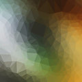 Vector multicolor dark yellow shade geometric rumpled triangular