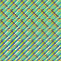 Vector multicolor modern version of houndstooth Royalty Free Stock Photo