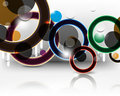 Vector multicolor rings background Stock Photos