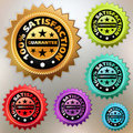 Vector multicolor satisfaction labels set. EPS 8 Royalty Free Stock Photo