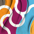 Vector multicolor wave elements background Royalty Free Stock Photography