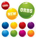 Vector multicolored orbs Royalty Free Stock Photos