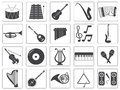 Vector Music Instrument Icons Set Royalty Free Stock Photo