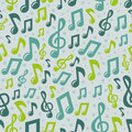 Vector music seamless pattern with icons Stock Photo