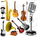 Vector musical instruments Stock Images