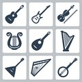 Vector musical instruments strings isolated Stock Images