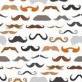 Vector mustache beard face haircut silhouette seamless pattern vector background