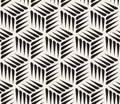 Vector naadloos zwart wit thorn shape cubic geometric pattern Stock Afbeelding