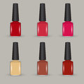 Vector nail polish set illustration Royalty Free Stock Photos