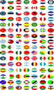 Vector of the national flags Stock Images