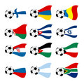 Vector national soccer flags Royalty Free Stock Image