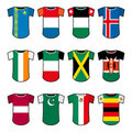 Vector national soccer uniforms Royalty Free Stock Image
