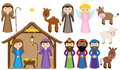 Vector Nativity Collection Stock Photo