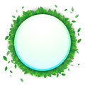 Vector nature background banner with green leaf frame