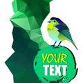 Vector nature illustration bird art design