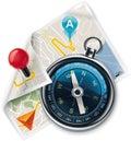 Vektor navigácia / trasa detailné ikona