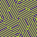 Vector neon green and purple geometric seamless pattern with stripes, lines Royalty Free Stock Photo