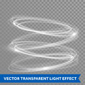 Vector neon light effect circle spiral Royalty Free Stock Photo