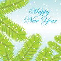 Vector New Year card Royalty Free Stock Photography
