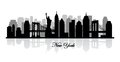 Vector new york skyline silhouette this is file of eps format Stock Images