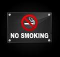 Vector no smoking sign Royalty Free Stock Photo