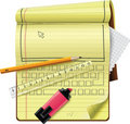 Vector notepad XXL detailed icon Stock Image